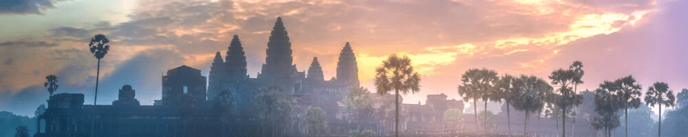 A photo of Angkor Wat at sunset