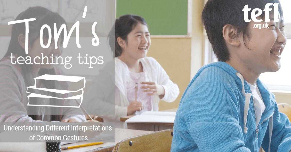 common gestures in the efl classroom