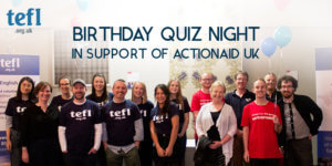 Birthday Quiz Night in Support of ActionAid UK