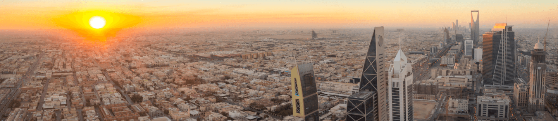 A skyline in Saudi Arabia