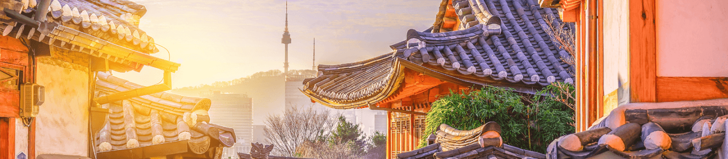 Traditional buildings in South Korea