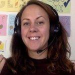 EFL teacher Laura teaching online
