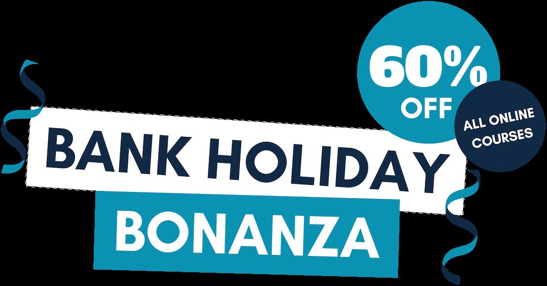 Bank holiday bonanza - 60% off!