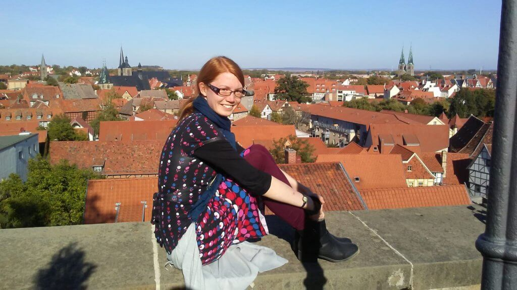 TEFL Org graduate, Fiona, pictured in Germany