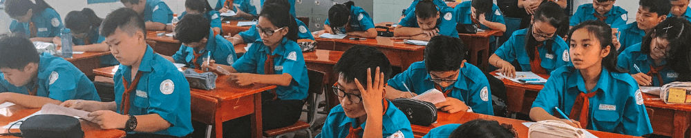 Vietnamese students in a classroom
