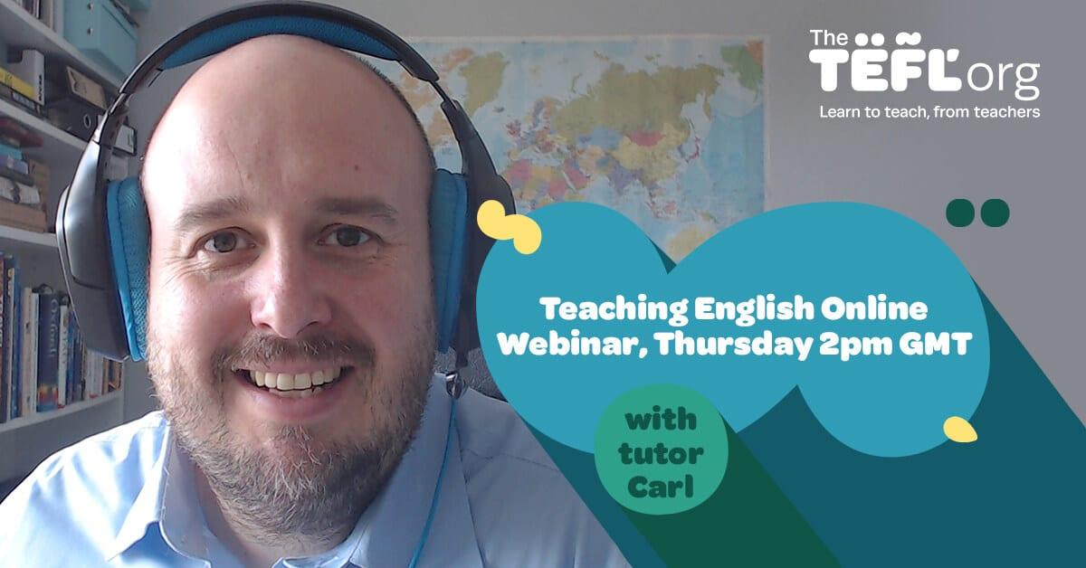 Join The TEFL Org's Teaching English Online Webinar! - Thursday 9th April @ 2:00pm GMT
