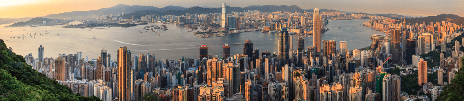 Hong Kong pictured from above