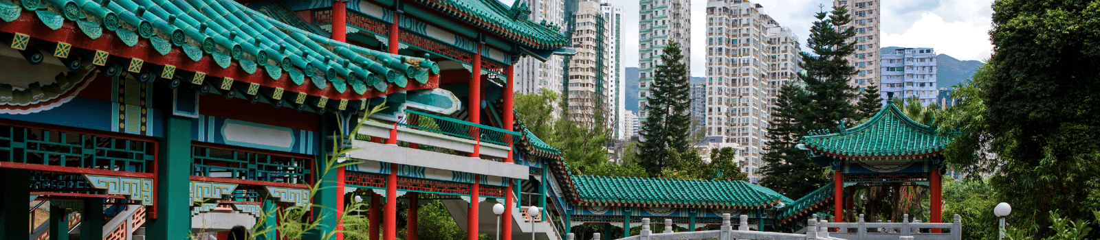 Old and new buildings in Hong Kong
