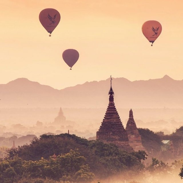 Bagan, Myanmar   . .  📷 Photography by @donaldhyip