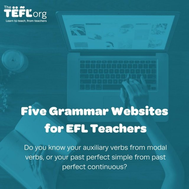 Unless you're a non-native speaker of English or have learnt another language yourself, chances are you've never really studied English grammar beyond the basics. You know what sounds right and wrong but you probably don't have the terminology to explain why that is.⁠ ⁠ Read our blog listing five grammar websites for EFL teachers - link in bio 🔗⁠ ⁠ Please leave your suggestions below 👇