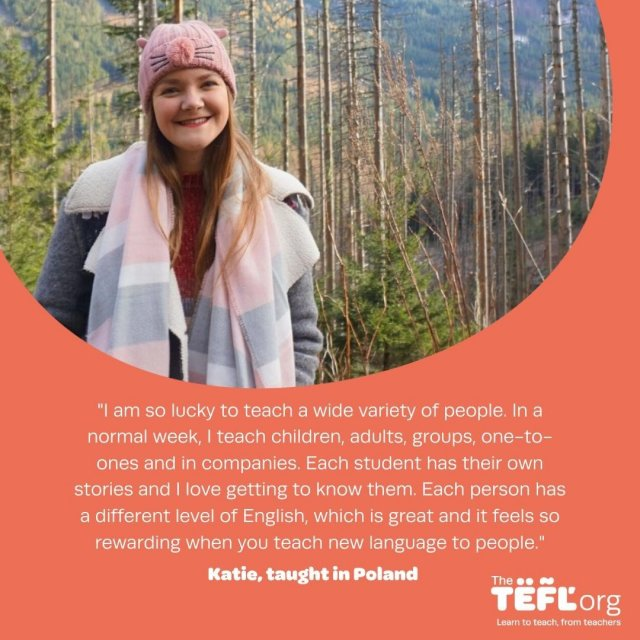 Katie discovered her love for travelling on her first solo trip volunteering in Ecuador in 2014. On her return, she realised she wasn't prepared to settle for the typical 9-5 routine and made the decision to become TEFL qualified in 2017, soon securing a teaching position in the small city of Bielsko-Biała, also known as 'Little Vienna'. 🇵🇱 ⁠ ⁠ Follow the link in our bio to read Katie's story. 🔗⁣
